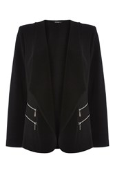 Roman Originals Double Zip Detail Jacket Black