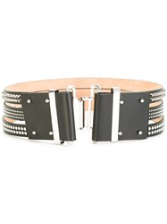 Dsquared2 Tri Part Studded Belt Black