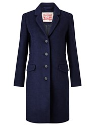 Levi's Long Wool Blend Coat Nightwatch Blue