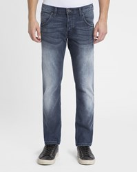 Wrangler Faded Blue Spencer Straight Slim Jeans