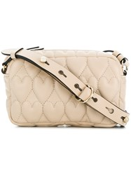 Red Valentino Heart Quilted Crossbody Nude And Neutrals