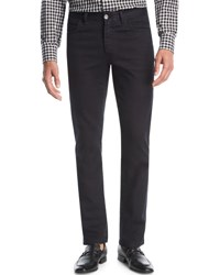 Brioni Stretch Denim Slim Straight Jeans Black