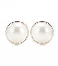 Balenciaga Clip On Earrings White