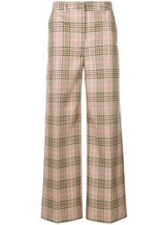 Essentiel Antwerp Silas Check Trousers Neutrals