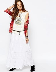 Denim And Supply Ralph Lauren Denim And Supply By Ralph Lauren Embroidery Anglaise Maxi Skirt Co Ord White