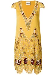 Aniye By Sequin Embellished Dress Yellow And Orange