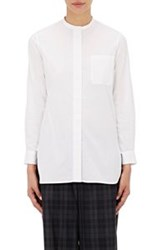 Tomorrowland Mandarin Collar Tunic White