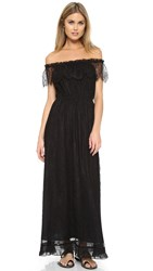 The Kooples Bohemian Lace Dress Black