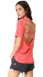 Ksubi Back Off Tee Faded Red
