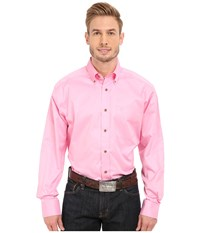 Ariat Solid Twill Shirt Prism Pink Long Sleeve Button Up