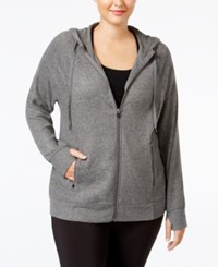 Ideology Plus Size Hoodie Only At Macy's Dark Pewter