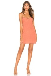 Auguste Florence Tie Slip Mini Dress Rust