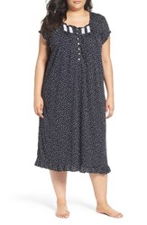 Eileen West Plus Size Women's Cotton Waltz Nightgown