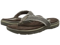 Skechers Relaxed Fit 360 Supreme Bosnia Chocolate Men's Sandals Brown