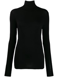 Majestic Filatures Turtleneck Jersey Top Black