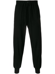 Y 3 Logo Printed Lounge Trousers Black