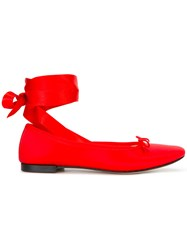Repetto Ankle Wrap Ballerinas Red