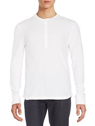 7 For All Mankind Stretch Cotton Henley Tee Black