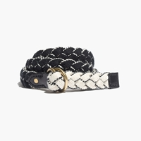 Madewell Braided Reversible Belt True Black