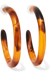 Dinosaur Designs Resin Hoop Earrings Tortoiseshell