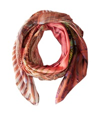 Echo Peacock Scarf Grasshopper Scarves Pink