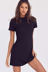 Bdg Mock Neck Mini T Shirt Dress Black