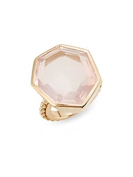 Stephen Dweck Rose Quartz And Bronze Faceted Ring