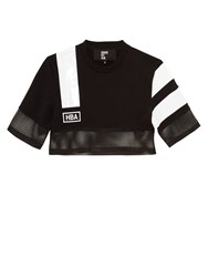 Hood By Air Nothingness Cropped Jersey Sweatshirt