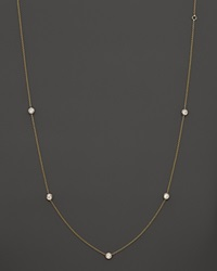 Bloomingdale's Diamond Station Necklace In 14K Yellow Gold .50 Ct. T.W. White Gold