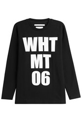 White Mountaineering Printed Cotton Sweatshirt Multicolor