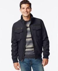 Tommy Hilfiger Men's Big And Tall Dual Pocket Bomber Coat Navy