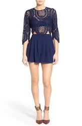 Women's Missguided Crochet Lace Romper