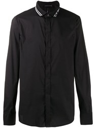 Emporio Armani Eagle Collar Shirt Black