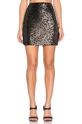 1. State Sequin Mini Skirt Black