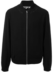Mcq By Alexander Mcqueen Front Zipped Bomber Jacket Black