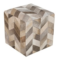 Surya Appalachian Cube Pouf 4 Brown