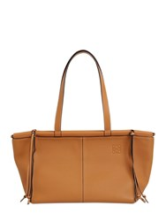 Loewe Sm Cushion Leather Tote Bag Light Caramel