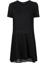 Thakoon Broderie Anglaise Panel Dress Black