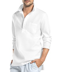 Hanro Alvaro Long Sleeve Button Shirt White