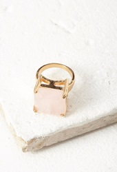 Forever 21 Faux Stone Cocktail Ring Gold Rose