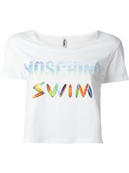 Moschino Swim Logo Print T Shirt White