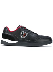Plein Sport Side Badge Trainers Men Leather Polyester Other Fibers Rubber 43 Black