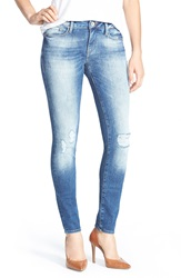 Mavi Jeans 'Alexa' Distressed Stretch Skinny Jeans Mid Patched Vintage