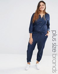 Junarose Chambray Jumpsuit Blue