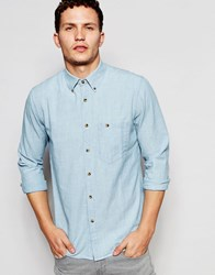 Nudie Jeans Nudie Regular Fit Shirt Stanley Button Down In Light Shade In Light Shade Blue