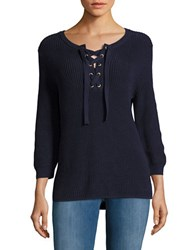 Tommy Bahama Pickford Lace Up Sweater Deep Ocean