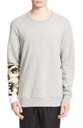 Drifter Men's 'Bradley' Embroidered Sleeve Sweatshirt Heather Grey