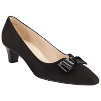 Peter Kaiser Edeltraud Bow Pointed Toe Court Shoes Black