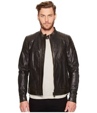 Belstaff Signature Hand Waxed Sandway Leather Jacket Vintage Black