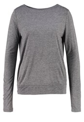 Opus Sophie Long Sleeved Top Raven Grey Anthracite